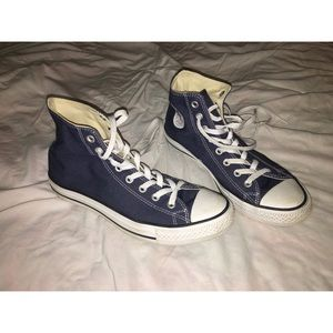 Navy blue Converse All Star High Tops-size 9.5